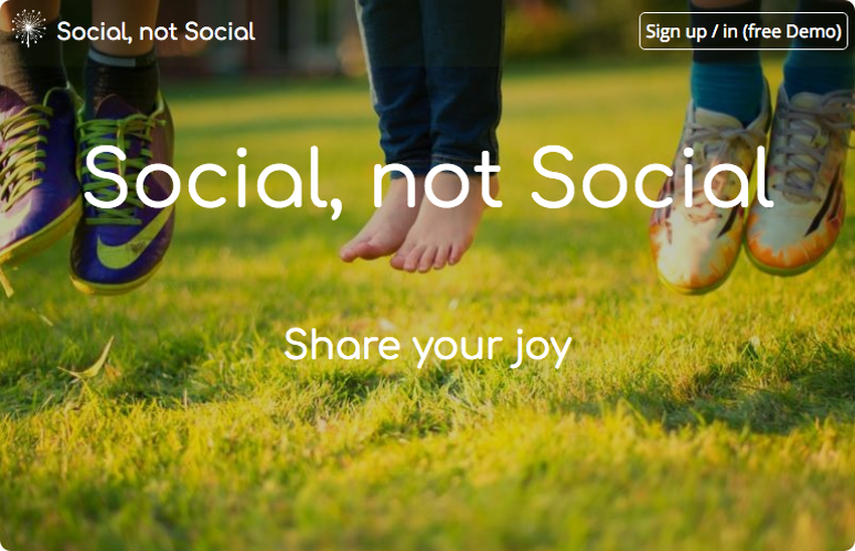 Social, not Social about page